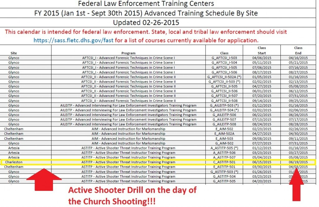 Active shooter drill on the day of the Charleston church shooting. Click to enlarge