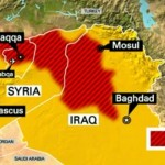 ISIS controlled areas in Syria and Iraq