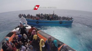 Refugees from Libya and Syria attempt to cross the Mediterranean to get to Europe. Click to enlarge