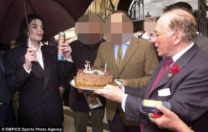 Michael Jackson is given a guided tour of the British Parliament by paedophile, Greville Janner (right). Click to enlarge