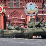 Russian T-14 Armata tanks on Red Square during the May 9, 2015, Victory Day pardade