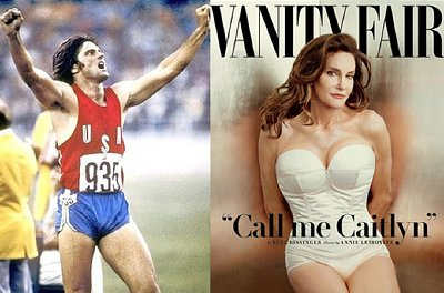 Bruce Jenner winning his Olympic gold in 1976 to the cover of Vanity Fair, 2015.