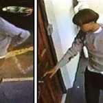 Security camera footage shows the suspect identified by the FBI as Dylann Roof. Click to enlarge