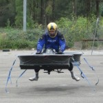 Testing the hoverbike. Click to enlarge
