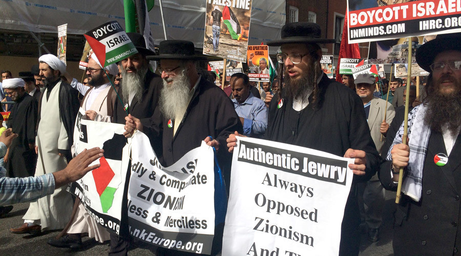Anti Zionist Jews protest