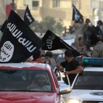 ISIS supporters and flags. Click to enlarge