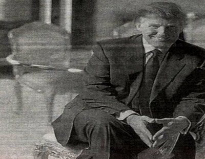 Trump makes the Masonic descendent triangle sign in this early photo. Click to enlarge