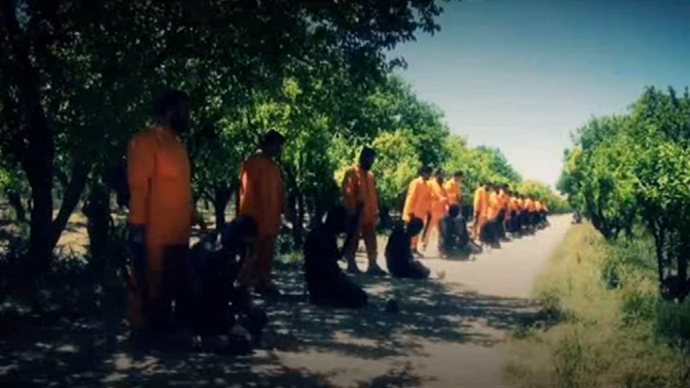 ISIS fighters beheaded.