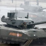 Russia's latest main battle tank, the Aramata, during Red Square Victory Day parade in May, 2015