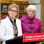 Wynne with Education Minister Liz Sandals. Click to enlarge