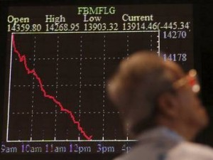 Black Monday, August 24, 2015, the the Dow Jones was down by as much as 1,000 points or 5 percent.