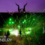 There is also something ritualistic about a bunch of young people dancing under a gigantic set of Baphomet horns at the Glastonbury Festival.