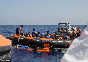 More than 1,750 migrants have died trying to cross the Mediterranean in 2015, three times more than 2014, according to the U.N. Refugee Agency. Click to enlarge