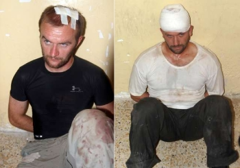 "British SAS soldiers detained in Basra, Iraq, who has been posing as ""terrorsus"" during the Anglo-American occupation of Iraq"
