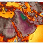 The extreme weather has been triggered by a high pressure ridge - or 'heat dome' - over the Middle East