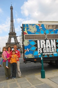 Cristian Florin Ivan and his family with their Iran vis Great an in Paris. Photograph: Ivan family/Facebook. Click to enlarge