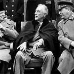 A frail looking FDR at Yalta Feb 1945. He died two months later. Click to enlarge