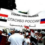Syrians respond to Russian support. Click to enlarge
