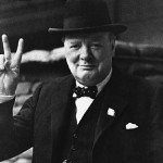 Churchill was an alcoholic because he had sold out his country to Illuminati Jewish bankers. The Victory Sign is really an occult symbol for their love of Satan. -