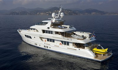 42 million pound super-yacht with its own three man submarine on board. Click to enlarge
