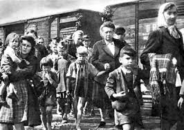 Jews herded into boxcars? Guess again. Germans. Click to enlarge