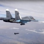 An Sukhoi Su-34 fires a precision guided missile in Syria. Russia's involvement in the conflict has given its armed forces valuable experience and shown that it's very much a force to be reckoned with. Click to enlarge