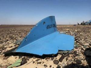 Debris from the Russian A321 in the Sinai. Click to enlarge