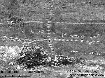 Geoglyph in Kazakstan. Click to enlarge