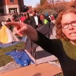 "University media professor Melissa Click calling for ""muscle"" to remove investigative journalist from campus. Click to enlarge"