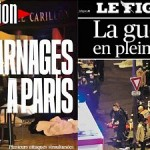 French newspapers report the events