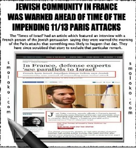Jewish Community in France Was Warned Ahead of Times of Impending 11/13 Paris Attacks