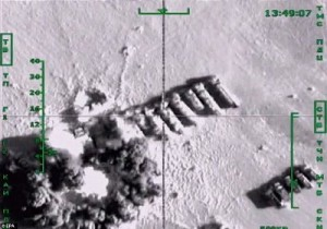 Russia air strikes target ISIS oil tankers in Syria, disrupting a major source of revenue for the militants. Click to enlarge