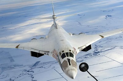 Russian TU-160 of the type that took part in raids against militants in Syria Thursday. Click to enlarges