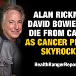 Alan Rickman, David Bowie both victims of a for-profit industry that exploits humans for money (while suppressing natural cures)