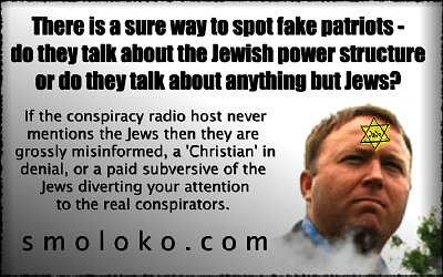 Is Alex Jones a fake patriot? Click to enlarge