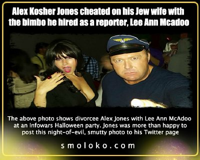 Jones and Mcadoo at an Infowars party. Click to enlarge