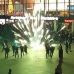 The scene at Cologne station on New Year's Eve. Click to enlarge