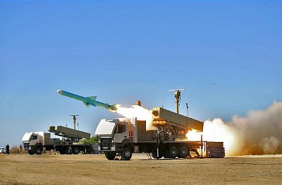 Iran test fires Nour naval cruise missiles during exercises recently. Click to enlarge