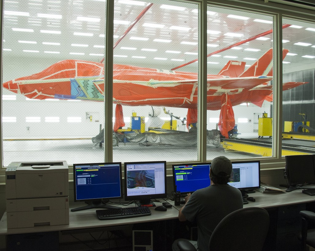 F-35 at Lockhheed Martin test facility in Texas. Click to enlarge
