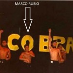 Marco Rubio, 1989, dancing and singing in a South Miami troupe that combined the Chippendales with The Village People.