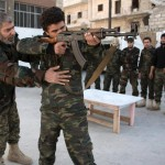 New recruits train to fight in Aleppo Syria