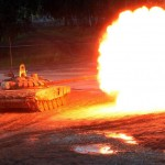 Russian T-90 tank during drills near Kubinka, outside Moscow. click to enlarge