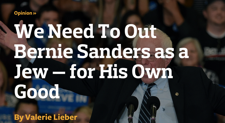 We need to out Bernie Sanders