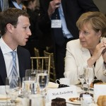 Angela Merkel overheard confronting Mark Zuckerberg over the need to 'do some work' on Facebook