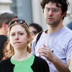 An earlier photo of Chelsea Clinton wearing an inverted cross. click to enalrge