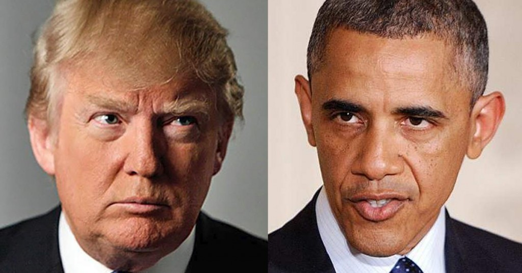 Donald-Trump-vs-Barack-Obama