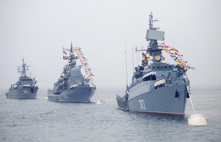 Ships of Russia's Pacific fleet. Click to enlarge