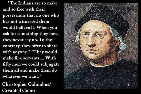 Columbus and quote