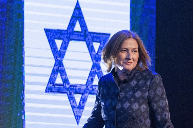 Former Israeli justice minister and HaTnuah party leader Tzipi Livni  arrives to deliver a speech during an election campaign meeting in Tel Aviv, on January 25, 2015 ahead of the March 17 general elections. Oposition Labour party head Isaac Herzog and Livni have made an alliance to contest Israel's snap general election. Most Israelis would like to see Prime Minister Benjamin Netanyahu replaced after March elections but, paradoxically, he is seen as most suitable for the job, an opinion poll said on December 18, 2014.  AFP PHOTO / JACK GUEZ        (Photo credit should read JACK GUEZ/AFP/Getty Images)