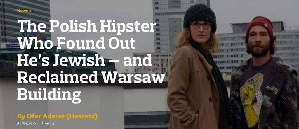 Polish hipster who found out he's Jewish